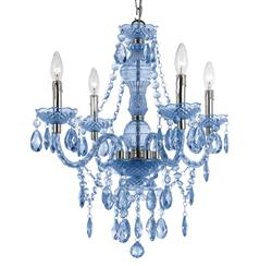 Zoe Global Bazaar Light Blue 4 Light Mini Chandelier | AFL-8352-4H