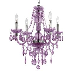 Zoe Global Bazaar Light Purple 4 Light Mini Chandelier | AFL-8353-4H