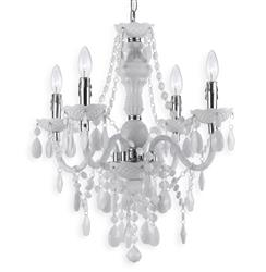 Zoe Global Bazaar Opaque White 4 Light Mini Chandelier