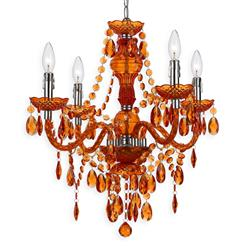 Zoe Global Bazaar Orange 4 Light Mini Chandelier