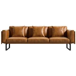 Rove Concepts Hector Modern Palermo Caramel Brown Leather Sofa