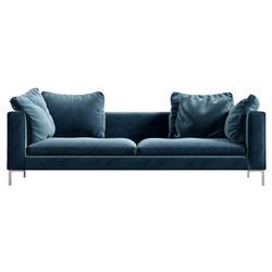 Rove Concepts Hugo Modern Classic Solstice Blue Velvet Sofa