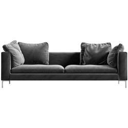 Rove Concepts Hugo Modern Classic Glacier Grey Velvet Sofa