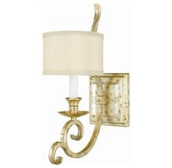 Lucy Soft Gold Crystal Curled Iron 1 Light Sconce