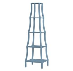 Chamberlain Hollywood Regency Light Blue 5 Tier Etagere