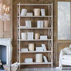 Eloquence Tresor Bookshelf in Provencal White Finish