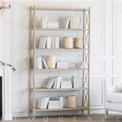 Eloquence Tresor Bookshelf in Rustic Wood Finish