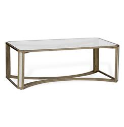 Camille Hollywood Regency Deco Brass Bone Inlay Coffee Table