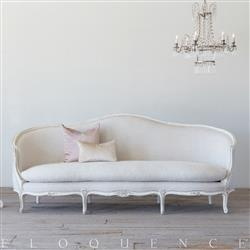Eloquence Grande Seraphine Canape Sofa in Fog Linen and Gesso and Oyster Finish