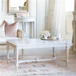 Eloquence Contessa Coffee Table in Chipped White Finish