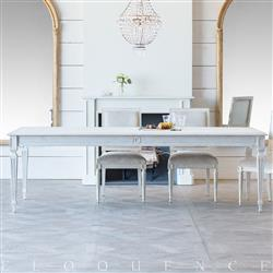 Eloquence Grande Gustavian Dining Table in Pickled White Finish