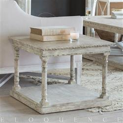 Eloquence Gustav Square Side Table in Oak Driftwood Finish