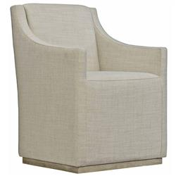 Maxine Modern Classic Beige Upholstered Dining Arm Chair