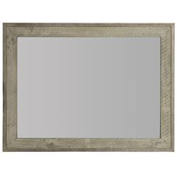 Maxine Modern Classic Brown Wood Rectangular Mirror