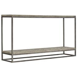 Maxine Industrial Loft Brown Wood Steel Console Table