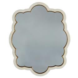 Renata Modern Classic White Faux Horn Cloud-Shaped Frame Wall Mirror