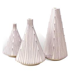 Migny Contemporary Geometric Vase Trio