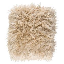 Lucia Modern Classic Beige Faux Fur Throw Blanket