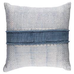 Shibi Modern Classic Navy Accent Ivory Down Insert Decorative Pillow - 30 x 30