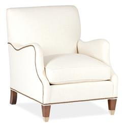 Lincoln English Saddle Arm Brass Nailhead Classic Arm Chair
