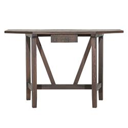 Radella Rustic Lodge Brown Reclaimed Elm Wood Console Table