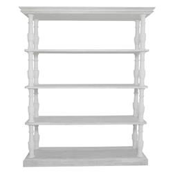 Patton French Country White Pine Wood Display Bookcase