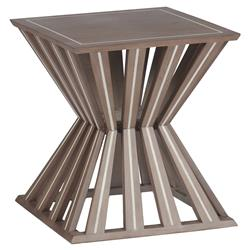 Mina Global Bazaar Oak Inlaid Bone End Table