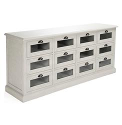 Battier Speckled Grey Oak Chest of Drawers Sideboard