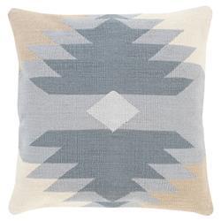"Anahita Global Bazaar Grey Cotton Woven Down Pillow - 18'' x 18"""
