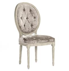 Madeleine French Country Oval Velvet Dining Side Chair