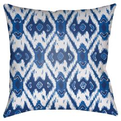 "Gianna Global Bazaar Blue Diamond Patterned Outdoor Pillow - 18"" x 18"""
