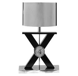 Xander Modern Loft Silver Criss Cross Table Lamp