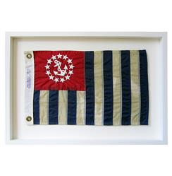 United States Power Squadrons Aged Flag  Wall Decor - by Karen Robertson