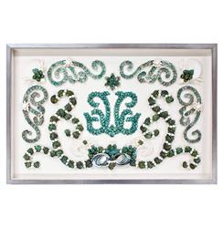 Mallorca Coastal Beach Blue Green Shell Grotto Wall Decor - by Karen Robertson
