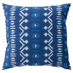 "Reagan Global Bazaar Blue Geometric Patterned Outdoor Pillow - 18"" x 18"""