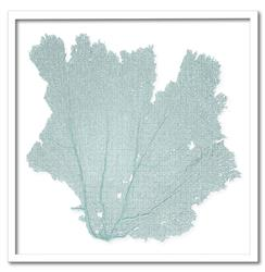 "Avalon Coastal Beach Blue Haze Sea Fan Wall Decor - 24""H - by Karen Robertson"