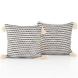 Hayley Modern Classic White Cotton Decorative Pillow - Set of 2