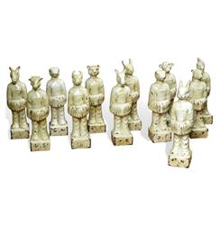 Chinese Ming Dynasty Ceramic Zodiac Figurines - Set of 12 | 275014