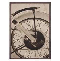 BSA Motorcyle Wheel Industrial Loft Photo Wall Art - Framed