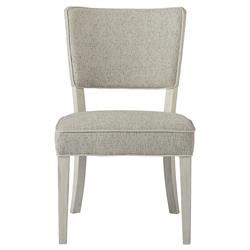 Hanna Modern Classic Grey Cushion White Wood Dining Side Chair