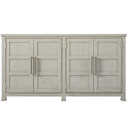 Hanna Coastal Beach White 4 Door Wood Buffet Sideboard