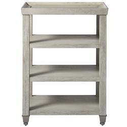 Hanna Coastal Grey Wood Side End Table