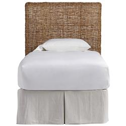 Willa Coastal Beach Brown Woven Wicker Headboard  - Twin