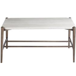 Jad Modern Classic White Stone Top Metal Rectangular Coffee Table 31 W 40 W Kathy Kuo Home
