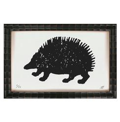 Cheyenne Tribal Rustic Lodge Vintage Hedgehog Art Print