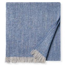 Sferra Modern Gigia Cadet Blue Woven Throw