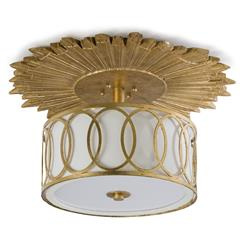 Stanwyck Hollywood Mirror Glass Semi-Flush Ceiling Mount Fixture