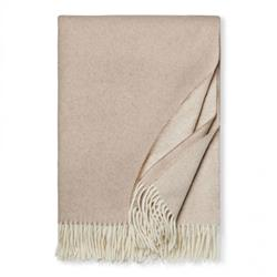 Sferra Modern Renna Natural Brown Fringed Throw
