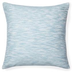 Sferra Modern Samma Aquamarine Blue Cotton Feather Down Square Pillow