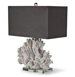 Monterey Coastal Beach Charcoal White Coral Table Lamp | Kathy Kuo Home